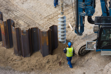Steel Vs. Vinyl Sheet Piling Installation