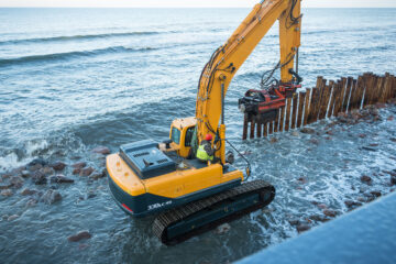 Driving Piling Over Water and Lifting Equipment