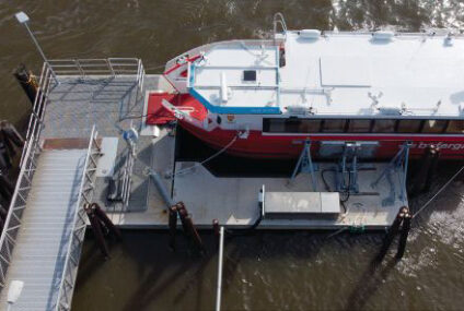 SF MARINA BUILDS  DOCK FOR INDUCTIVE-CHARGING FERRIES